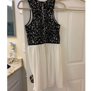Gianni bini GB lace cream and black dress